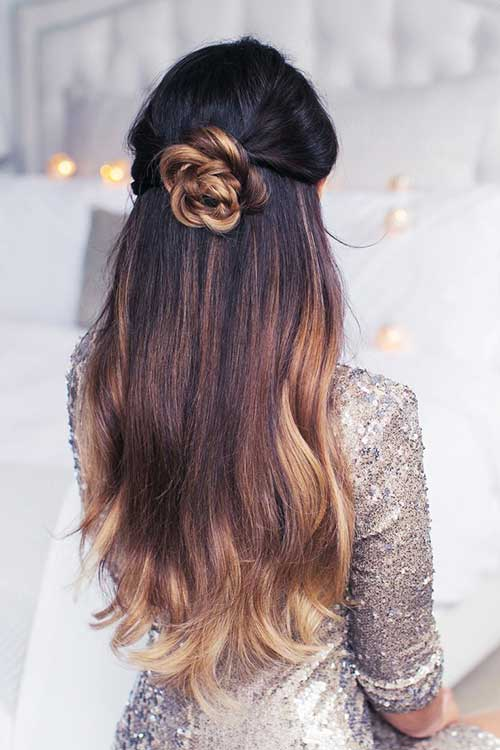 Half Down Half Up Hairstyles-10