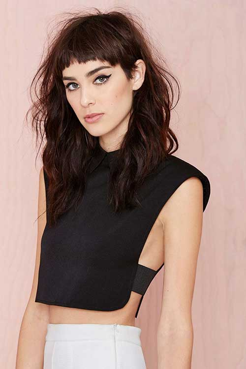 Pleasing Grunge Long Hairstyles And Short Bangs Hairstyles Amp Haircuts Short Hairstyles Gunalazisus