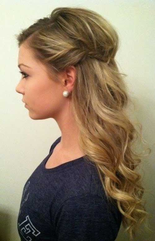 Half Down Half Up Hairstyles-18