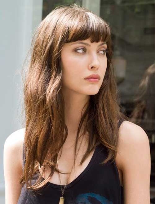Long Hairstyles with Short Bangs