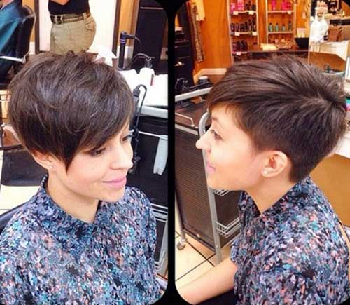 Gorgeous short hairstyles for round face shape the best short - Pretty And Popular Long Pixie Hairstyles Hairstyles