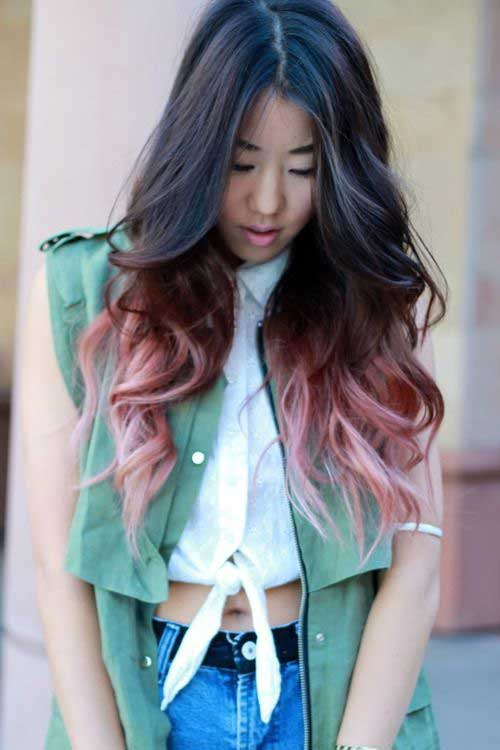 Asian Ombre Colored Long Hair