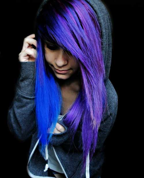 Blue Purple Emo Hairstyles Pictures