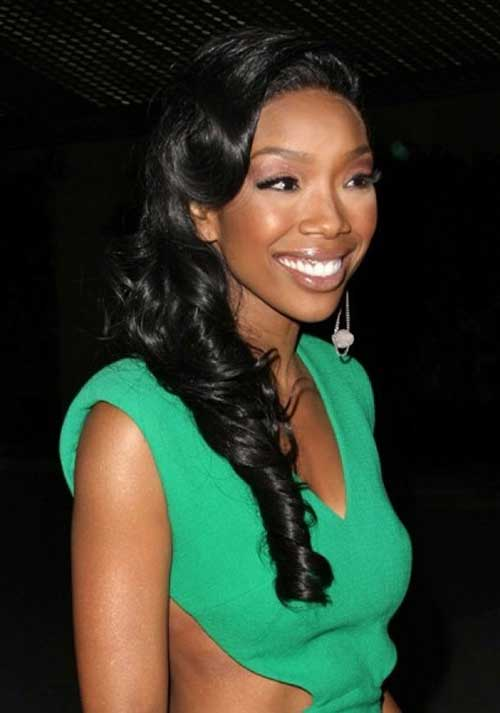Bridal Style Hairstyles for Black Women with Long Hair