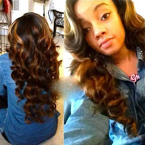 Nice Curly Hairstyles for Black Women with Long Hair