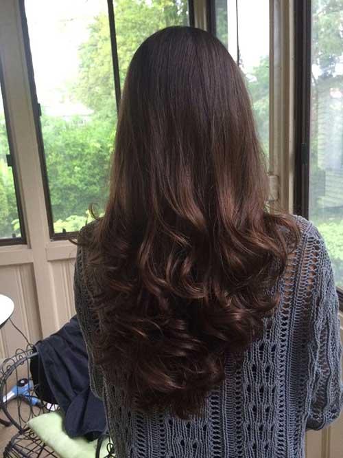 Peachy 10 Long Layered Hair Back View Hairstyles Amp Haircuts 2016 2017 Short Hairstyles Gunalazisus