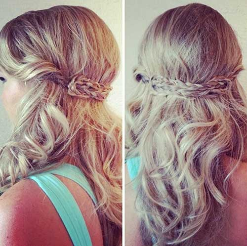 Easy Half Up Half Down Hairstyle for Prom