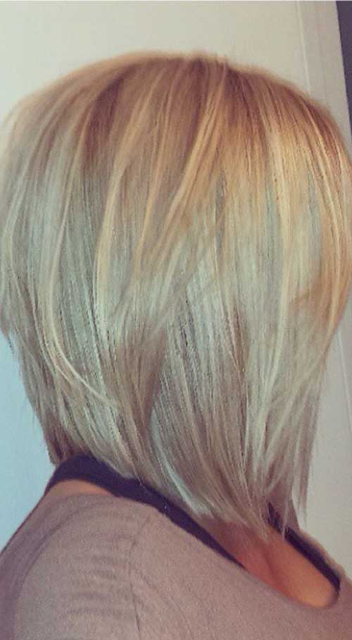 Layered Blonde Bob Hair Styles
