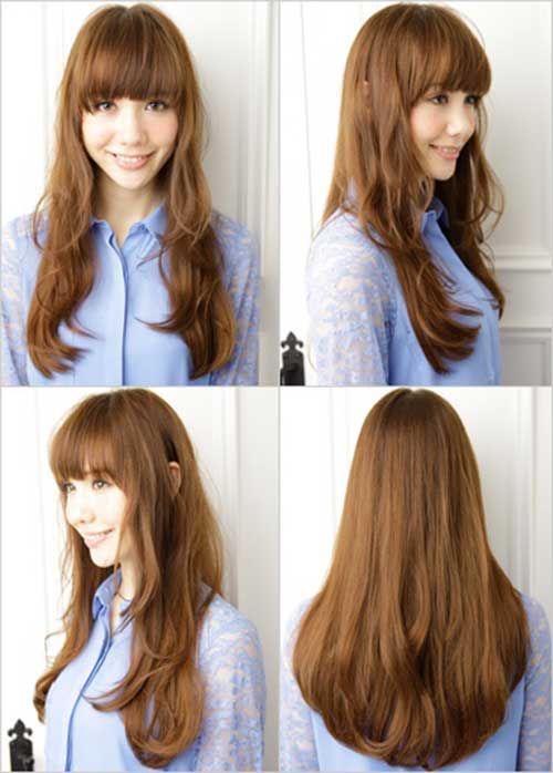 Long Brown Asian Hairstyles