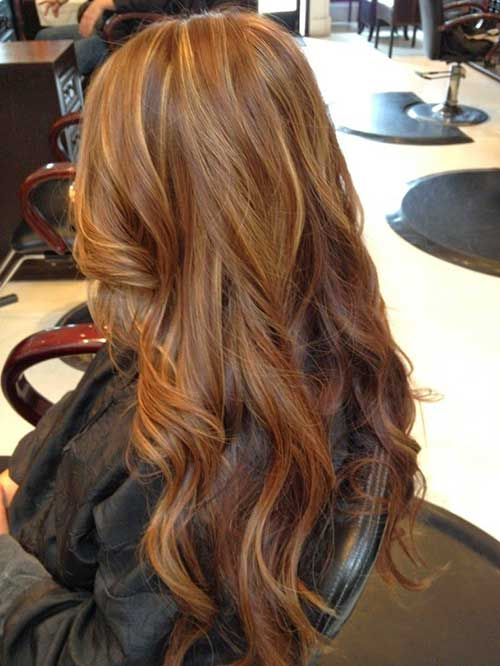 Long Dark Strawberry Blonde Hairstyles