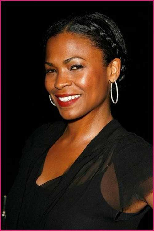 Nia Long French Braids Bun