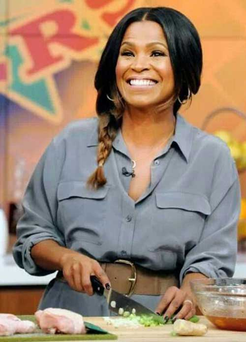 Nia Long Side Braided Hairstyles