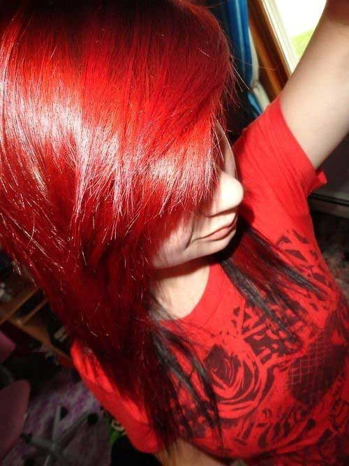 Pictures of Emo Red Hairstyles