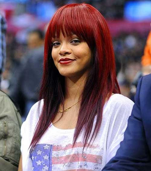 Pleasant 20 Rihanna With Long Hair Hairstyles Amp Haircuts 2016 2017 Short Hairstyles For Black Women Fulllsitofus