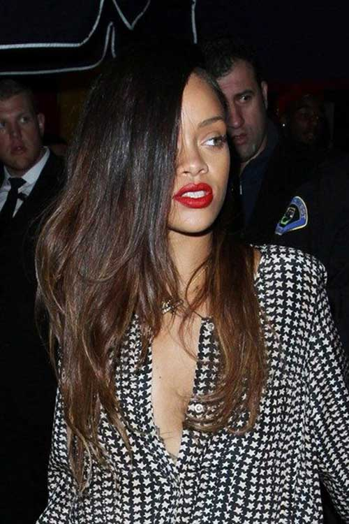 Rihanna Sombre Long Hairstyles
