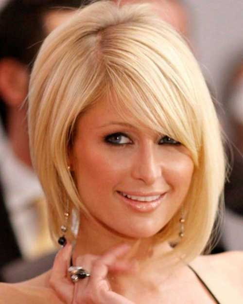 Straight Blonde Bob Hair for Women with Oval Face