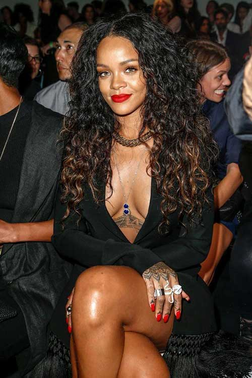 Awesome 20 Rihanna With Long Hair Hairstyles Amp Haircuts 2016 2017 Hairstyle Inspiration Daily Dogsangcom