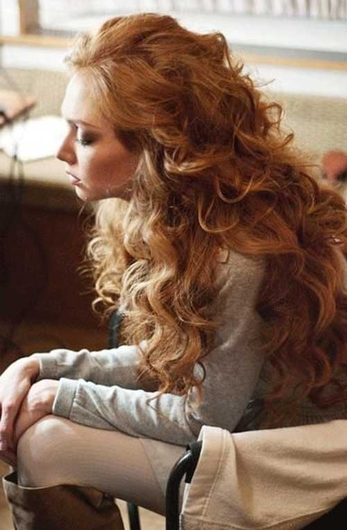 Very Long Strawberry Blonde Curly Hair