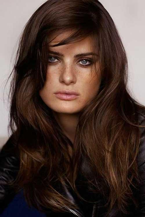 İsabeli Fontana Brunette Hair