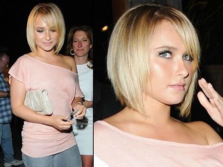 Short Medium Hairstyles Bangs - 11
