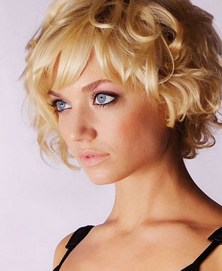 Short Medium Hairstyles Bangs - 15