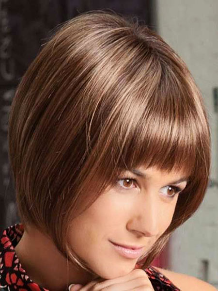 Short Hair with Straight Bangs - 20