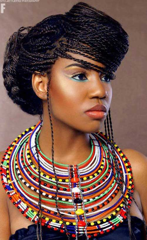 Surprising African Braids Ponytail Styles Braids Hairstyle Inspiration Daily Dogsangcom