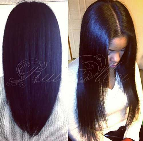 African Women Straight Hair Styles