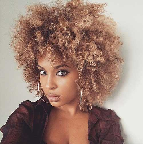 Honey Blonde Afro Hair Styles