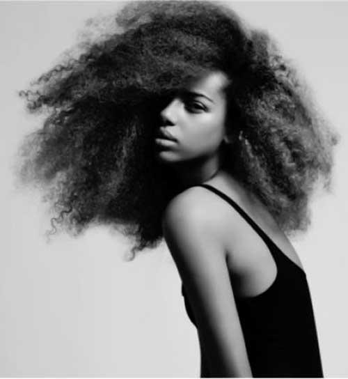Cute Long Afro Hair