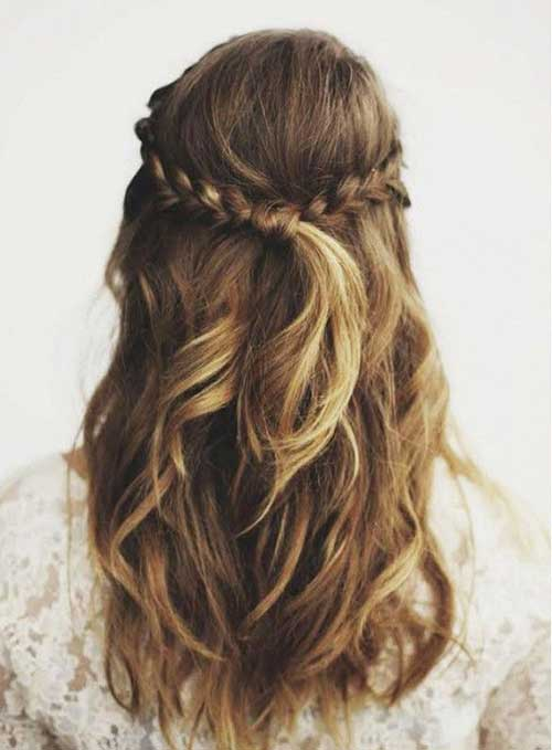 Back Braid Half Up Hairstyles