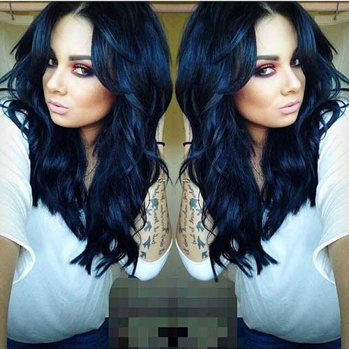 Black Loose Curly Long Hairstyles