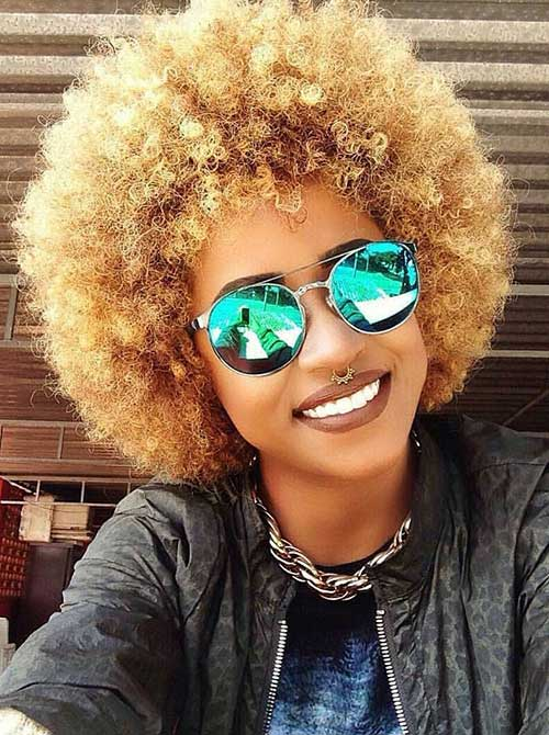 Best Blonde Afro Hairstyles