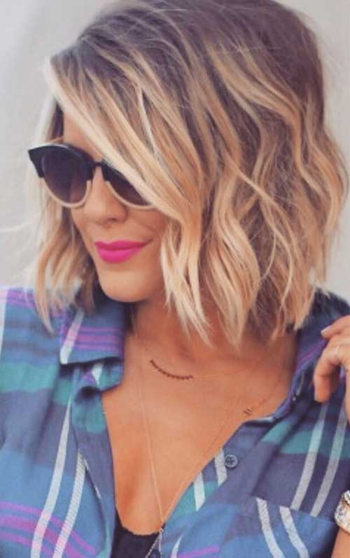 Blonde Brown Balayage Short Hair