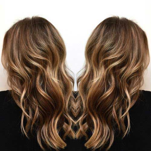 Blonde Balayage on Brown Hair Ideas