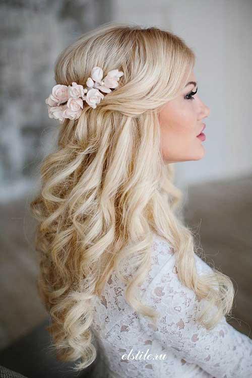 Phenomenal 15 Half Up Half Down Bridal Hair Hairstyles Amp Haircuts 2016 2017 Hairstyle Inspiration Daily Dogsangcom