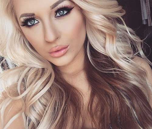 Blonde Brown Loose Wavy Hair Ideas