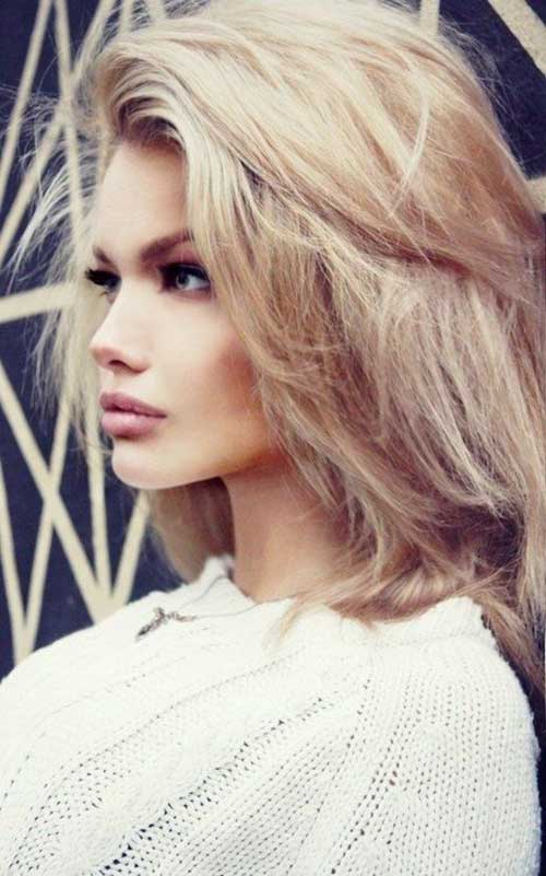 Blonde Lob Fine Hair