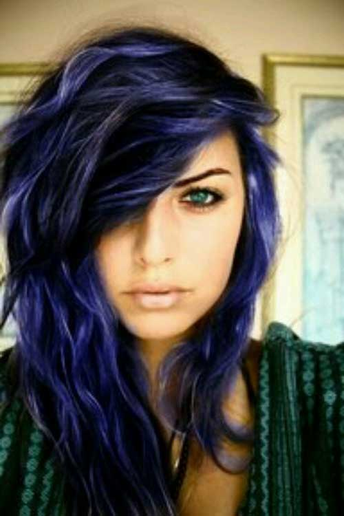 Blue Punk Long Hairstyles