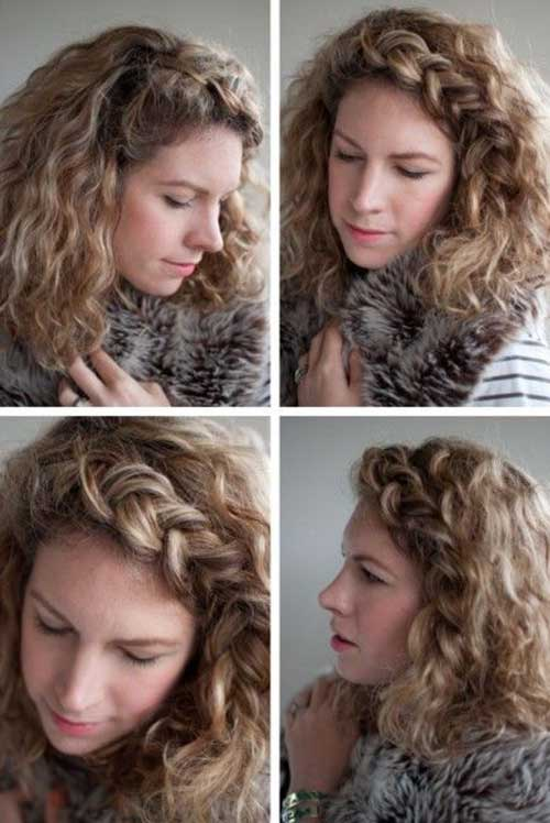 Braid Crown Curly Hairstyles