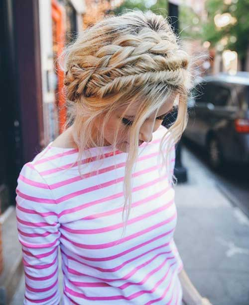 Braid Crown Updo Hairstyles 2016