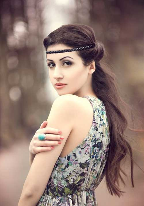Simple Braided Long Hairstyle for Party