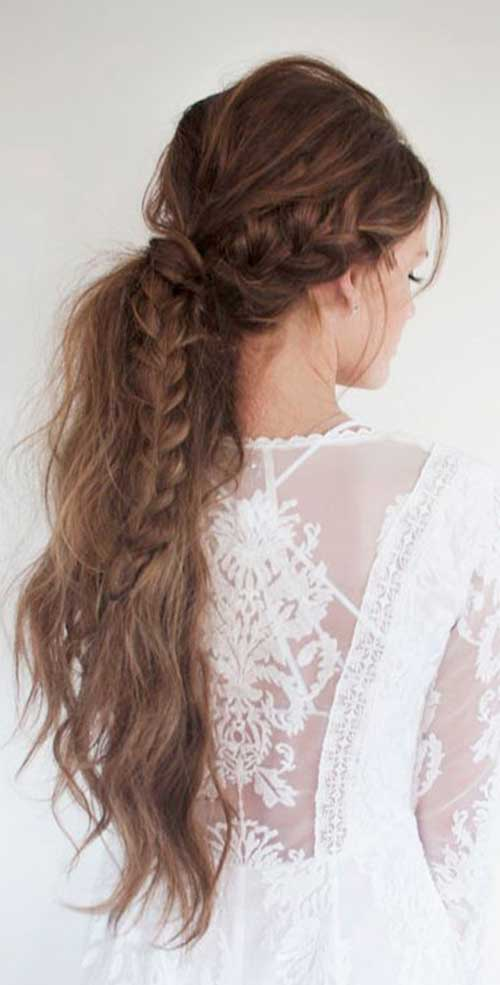 Latest Braided Ponytail