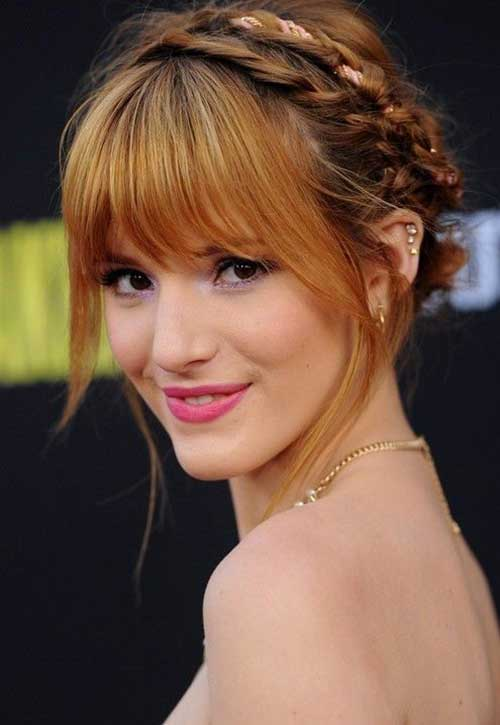 Latest Braided Updo with Bangs
