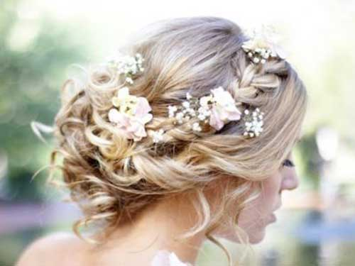 Braided Wedding Hairstyles with Flowers Images