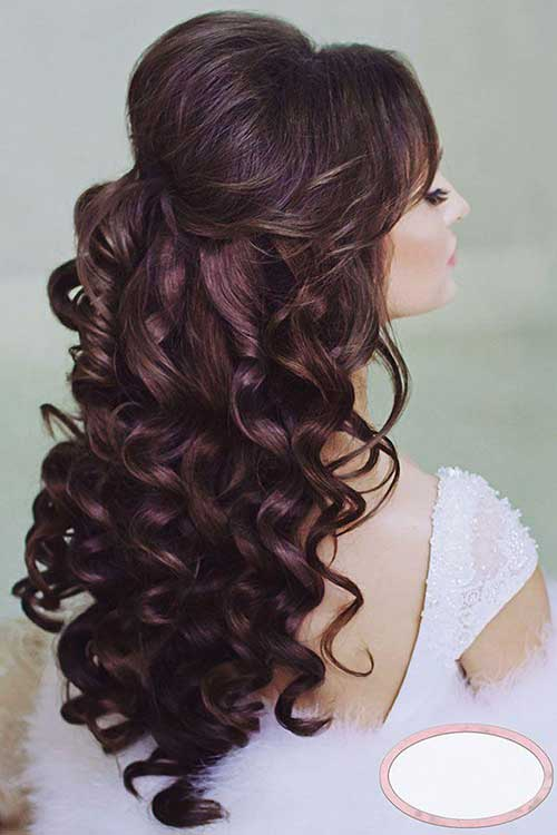 15 half up half down bridal hair hairstyles haircuts 2016 2017 bridal hairstyles curly half up half down junglespirit Images