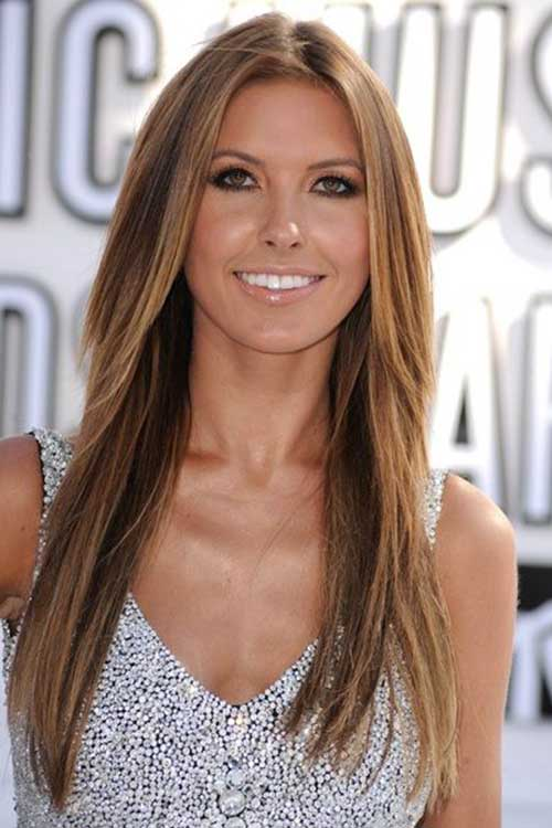 Thin Brown Hair with Highlights