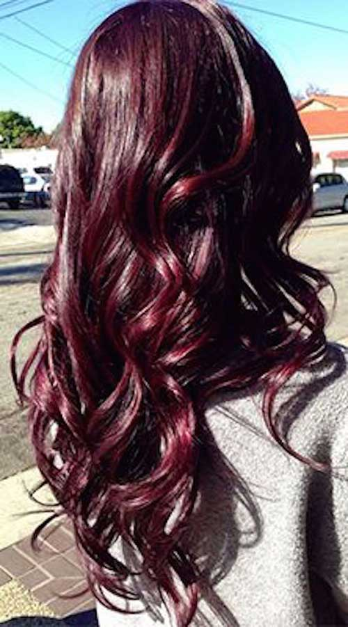 Brunette Burgundy Hair Color Ideas 2016