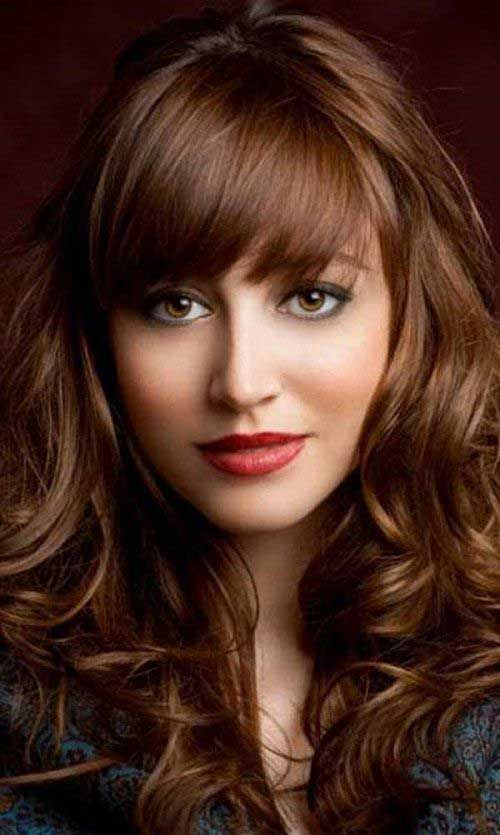 Brunette Hair Styles with Bangs 2016