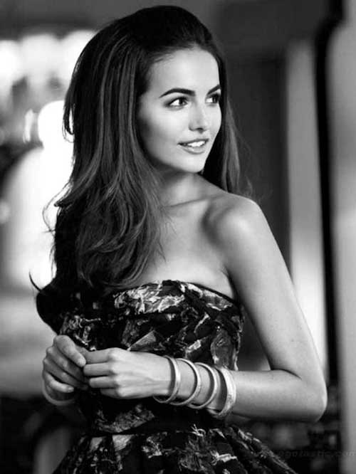 Camilla Belle Straight Hair Half Up